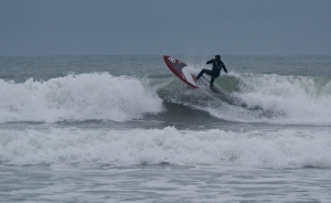 Solid Surf session on Pegasus beach..Fred going hard
