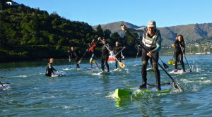 Sat SUP Training session in Cass bay, Lyttelton Harbour