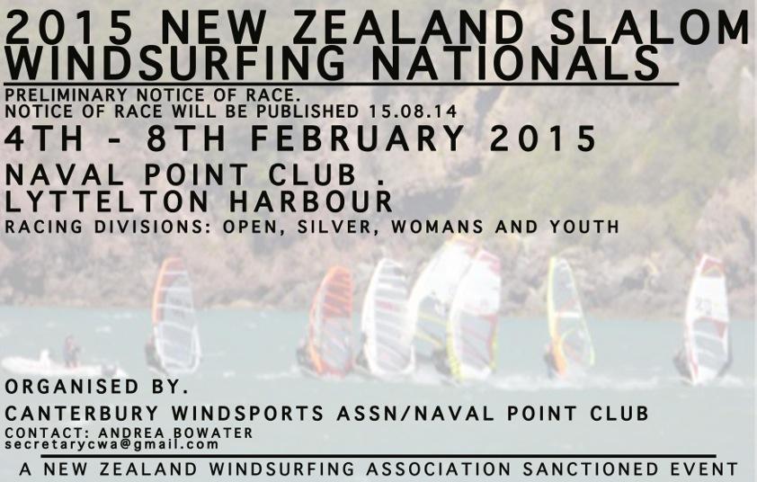 2015 NZ Windsurf Slalom Nationals