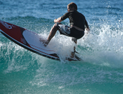 Groundswells' Al Taylor testing the new 2015 Fanatic Prowaves
