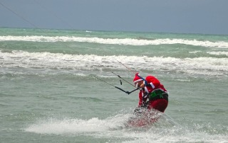 Santa Kite boarding at New Brigthon