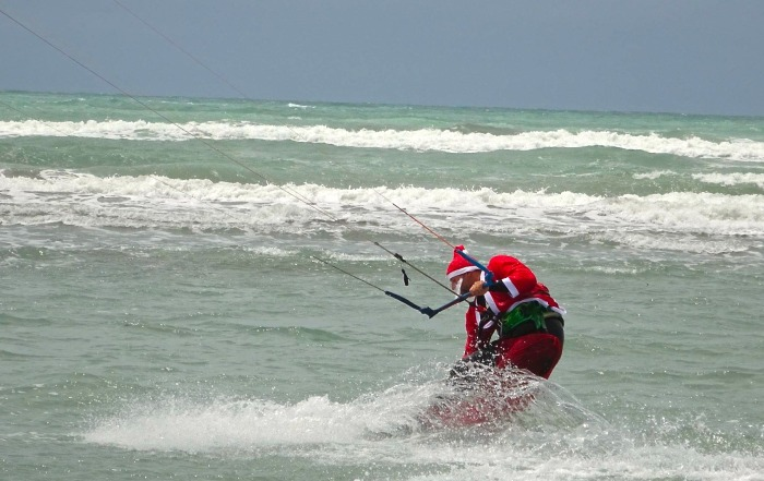 Santa Kite boarding at New Brigthon