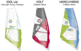 Preview of the 2016 wave & freestyle range of sails from North Windsurfing