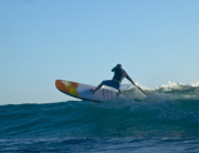 Taking the Fanatic Stubby for a surf