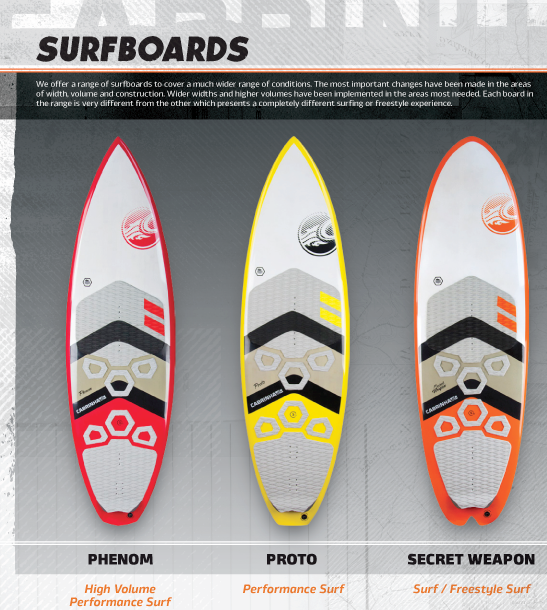 Carbine Surf Board Range 2016